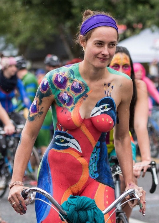 Wow! That is elaborate body paint! Very artistic.