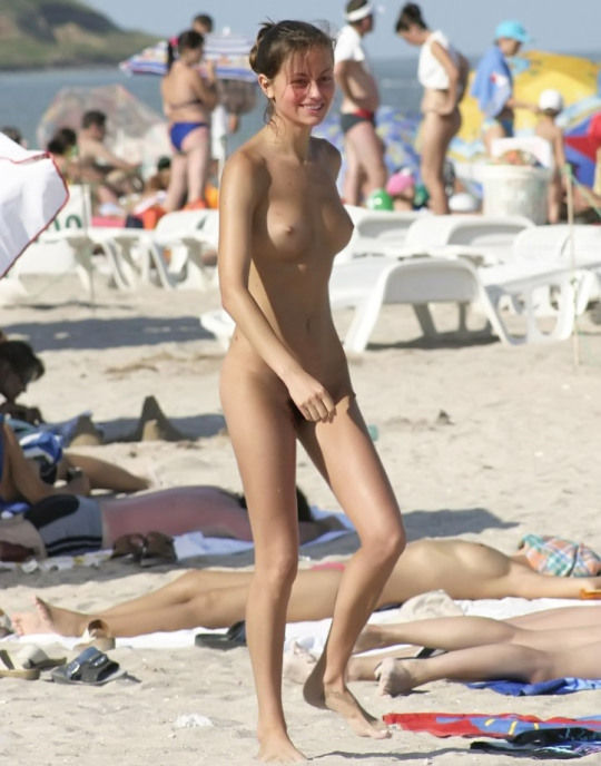 Happy nudist